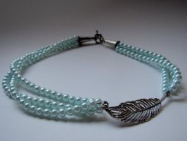 Pearls of a Feather Necklace by thistlesis