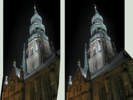 Gothic Dome HDR :Crossview 3D: by zour