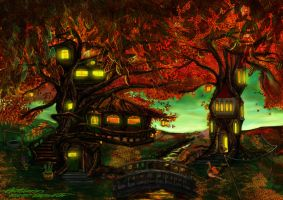 The Autumn Tree House by BramLeegwater