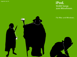 Lord of the Ring's iPod by piggystyle