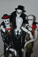 Slendermanikin bros by Gothicraft