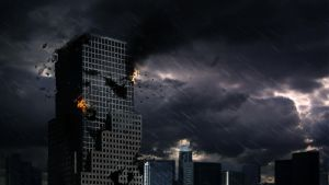 The destroyed skyscraper by Samuels-Graphics