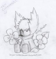 BlacknWhite Button Flowers c: by ImYourNumber1Moron