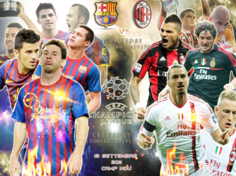 Milan vs Barcellona First Wallpaper by LEOXT1O