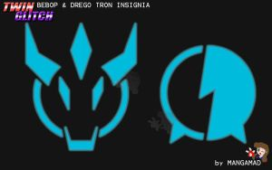 TG - Bebop and Drego Tron logo by Mangamad