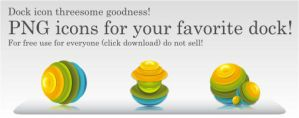 Threesome Goodness Dock Icons by mircha69