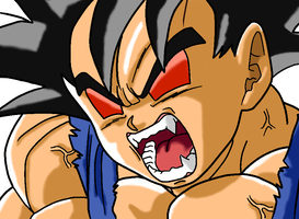 Goku (GT) Great Ape Transformation by Evil-Black-Sparx-77