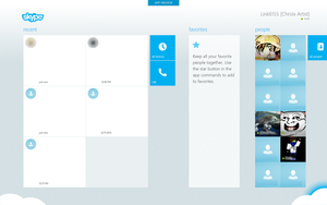 Metro Skype for Windows 8 Screenshot by link6155