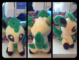 Shiny Leafeon Pokedoll by LRK-Creations