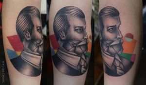 Old School Portrait Tattoo by Moviemetal3