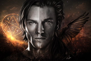Sam Winchester and Shamsiel- Henry Winchester Jr. by Arasiriel