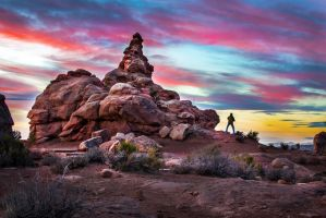 Arches National Park, the photographer by alierturk