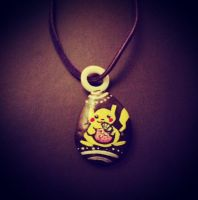 Pikachu Stone Necklace by FlutterByye