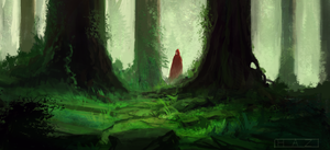 Forest Sketch by HazPainting