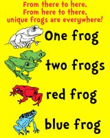 One Frog, Two Frogs, Red Frog, Blue Frog by Gr8Gonzo