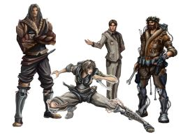 Characters Brave RPG by wolfnoom