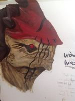 Mass effect Wrex painting by CobaltMedic