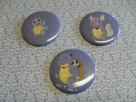 Squirtle Button Set For Sale by R3YD1O