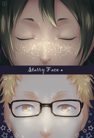 Starry face - Animated by Riukkii