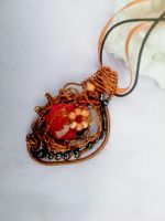 Orange and black pendant by Mirtus63