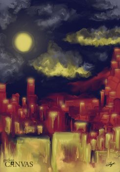 Night of the golden city (00034) by gurkoz