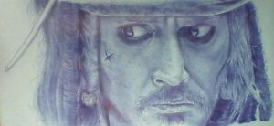 - Captain Jack Sparrow - Ball Point Pen Drawing by KisaMake