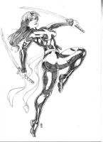 Marvel Now Psylocke by JeanSinclairArts