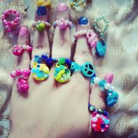 Colorful Beaded Rings by Stardom7