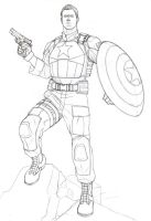 Captain America by khazen