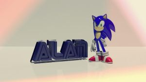 Sonic and my name by alanvba