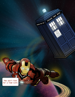 Tony Stark VS the TARDIS by ice-cream-skies