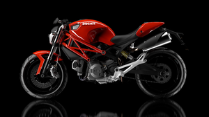 Ducati Monster 696 3D WIP (new environment test) by pierre-allard