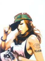 Namie Amuro in gouche painting by chua8