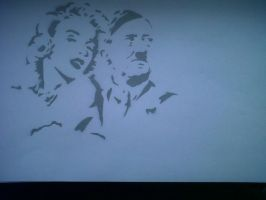 Marilyn and Hitler by SamaelSebastian