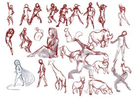 Gesture Drawings by p-o-c-k-e-t