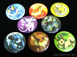 Eeveelution Buttons by Jiayi