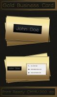 Gold Business Card , Free PSD. by SameehShkeer
