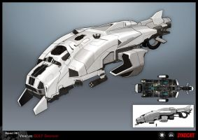 SYNDICATE concept - enemy dropship by torvenius