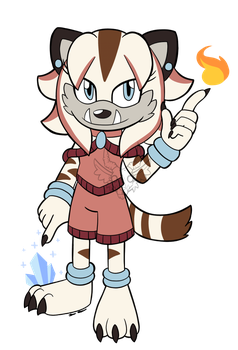 .:Child of Two Elements:. by Knuxtiger4