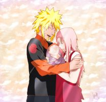 NaruSaku's Family - Color by NarutoXSakuraLOVE