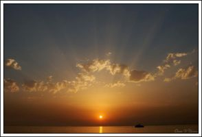 Sunset in Istanbul by jevigar