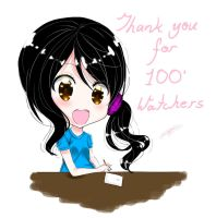Thank you for 100 watchers by reicel-chan