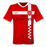 Arsenal Home Jersey by rvpdesignz