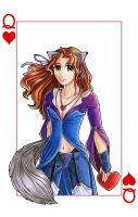 Poker cards: Queen of Hearts by satsuki-herro