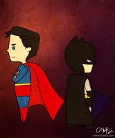 Batboy and Superboy by miri-k