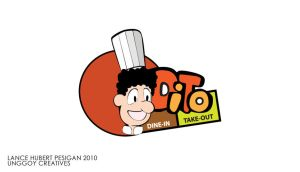 Dine in take out logo by unggoycreatives