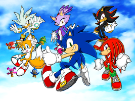 Sonic and his Friends and Rivals by 9029561