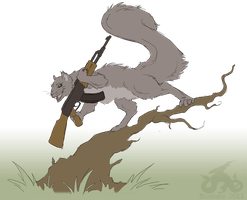 PC - COMBAT SQUIRREL by KingGiantess