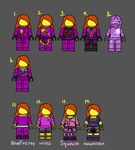 Karryn's Outfits by kayyeh1