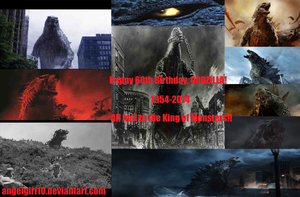 Godzilla 1954-2014 Forever! by Angelgirl10